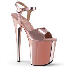 FLAMINGO-809 Extra vysoké sandály flam809/rogldpu/m růžové zlato