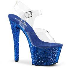 SKY-308LG Modré boty na vysokém podpatku a platformě sky308lg/c/blg
