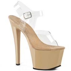 SKY-308 Krémové sexy boty na vysokém podpatku a platformě sky308/c/cr