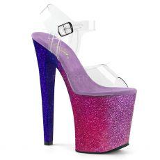 XTREME-808OMBRE Extravagantní sexy boty na ohromném podpatku xtm808ombre/c/fs-bl