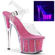 ADORE-708UVG Růžové svítící sexy boty ado708uvg/c/nhp