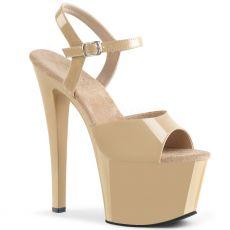SKY-309 Krémové sexy boty na podpatku sky309/cr/m