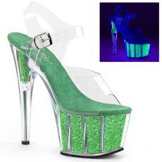ADORE-708UVG Zelené svítící sexy boty ado708uvg/c/ngng