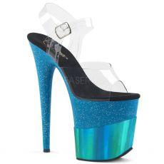FLAMINGO-808-2HGM Modré sandály na extra vysokém podpatku flam808-2hgm/c/teghg