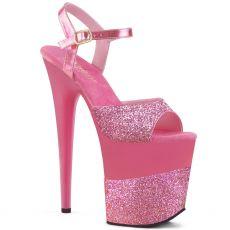 FLAMINGO-809-2G Růžové sandály na extra podpatku flam809-2g/png/m