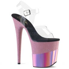FLAMINGO-808-2HGM Růžové sexy boty na extra vysokém podpatku flam808-2hgm/c/bpghg