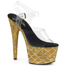 ADORE-708MSLG Zlaté luxusní sexy boty ado708mslg/c/gg