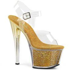 SKY-308G-T Zlaté boty pro tanec na tyči sky308g-t/c/ggi