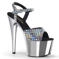 ADORE-709MSC Stříbrné sexy boty s hologramem ado709msc/shg/sch