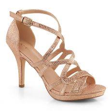 DAPHNE-42 Páskové společenské sandály daphne42/rogldfa růžové zlato