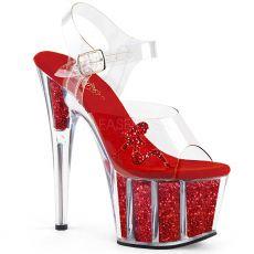ADORE-708GTG Červené sandály na vysokém podpatku a platformě ado708gtg/c/rg