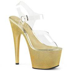 ADORE-708HG Zlaté taneční boty boty na podpatku ado708hg/c/gldhg