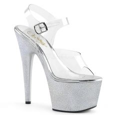 ADORE-708HG Stříbrné taneční boty boty na podpatku ado708hg/c/shg a platformě