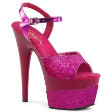 ADORE-709-2G Fialové taneční sexy boty na vysokém podpatku a platformě se třpytkami ado709-2g/fsg/m