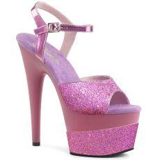 ADORE-709-2G Levandulové růžové taneční sexy boty s vysokým podpatkem a platformou ado709-2g/lvg/m