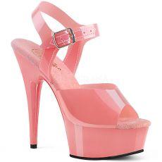 DELIGHT-608N Svůdné růžové boty na vysokém podpatku del608n/bptpu/m