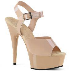 DELIGHT-608N Elegantní tělové boty na vysokém podpatku a platformě del608n/crtpu/m