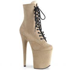 FLAMINGO-1020FS Béžové taneční boty na extra vysokém podpatku flam1020fs/befs/m