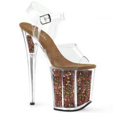 FLAMINGO-808GF Hnědé boty na extra vysokém podpatku flam808gf/c/bnmcg
