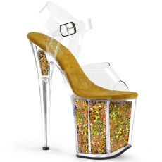 FLAMINGO-808GF Zlaté boty na extra vysokém podpatku flam808gf/c/gmcg