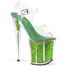 FLAMINGO-808GF Zelené boty na extra vysokém podpatku flam808gf/c/grnmcg