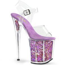 FLAMINGO-808GF Růžové levandulové boty na extra vysokém podpatku flam808gf/c/lvmcg