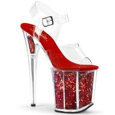 FLAMINGO-808GF Červené boty na extra vysokém podpatku flam808gf/c/rg