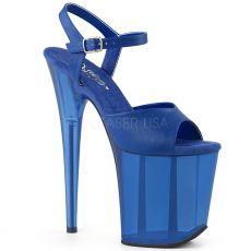 FLAMINGO-809T Modré boty na extra vysokém podpatku flam809t/blupu/m