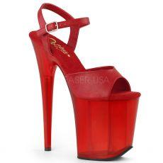 FLAMINGO-809T Červené boty na extra vysokém podpatku flam809t/rpu/m