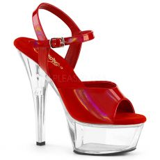 KISS-209BHG Červené taneční boty s hologramem kiss209bhg/rhg/c