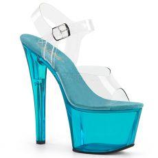 SKY-308T Sexy boty s tyrkysovým průsvitným podpatkem a platformou  sky308t c aq c89d8d8ebd