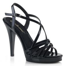 FLAIR-413 Černé páskové společenské sandály fla413/b/m